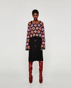 Imagem 1 de SWEATER CROCHÉ MANGA COMPRIDA da Zara