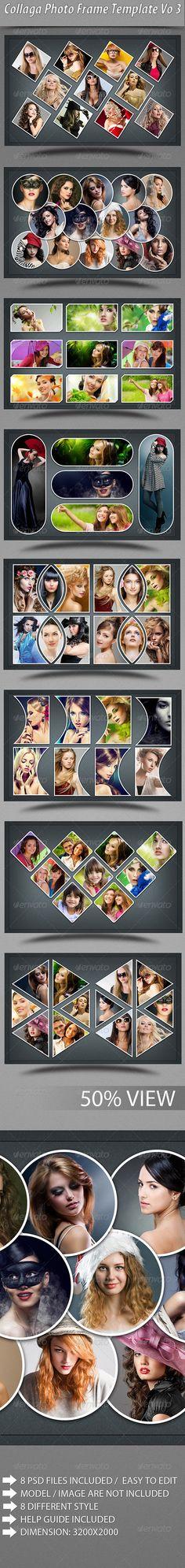 Collage Photo Frame Template #design Download: http://graphicriver.net/item/collage-photo-frame-template-vo-3/6308979?ref=ksioks