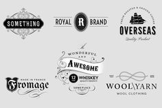 Check out Vintage Logo / Insignia Set 3 by vatesdesign on Creative Market