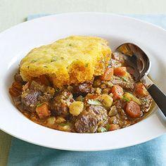 Pork Posole and Cornbread Stew