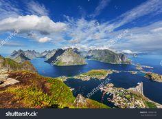 Lofoten Island,Norway Стоковые фотографии 159582146 : Shutterstock Lofoten, Stavanger, Trondheim, Norway Wallpaper, Norway Landscape, Norway Fjords, Alesund, Norway Travel, Tromso