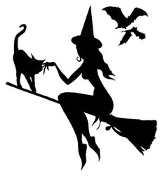 Good Witch Flying - Pumpkin Template - Real Time - Diet, Exercise, Fitness, Finance You for Healthy articles ideas Moldes Halloween, Casa Halloween, Manualidades Halloween, Halloween Projects, Holidays Halloween, Halloween Decorations, Halloween Labels, Halloween Halloween, Vintage Halloween