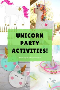 7 fun unicorn party games and activities for a unicorn theme kids birthday party Birthday Party Games For Kids, Unicorn Birthday Parties, First Birthday Parties, First Birthdays, Unicorn Party Hats, Party Themes, Party Ideas, Party Scene, Party Activities