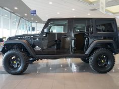 2013 Black Jeep Wrangler Unlimited Rubicon http://www.iseecars.com/used-cars/used-jeep-wrangler-for-sale