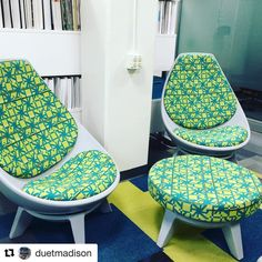 You can't help but sit in this lounge chair! #sway #ispyki #Repost @duetmadison with @repostapp ・・・ Don't just sit, #Sway. @kifurniture #lounge #ottoman #reslife