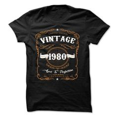 VINTAGE 1980 Aged To Perfection #teeshirt #clothing