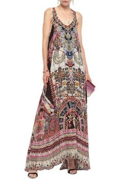 Shop on-sale Tiny Dancer crystal-embellished printed silk crepe de chine maxi dress. Browse other discount designer Maxi Dress & more luxury fashion pieces at THE OUTNET Camilla Clothing, Free Clothes, Clothes For Women, Dress Outfits, Fashion Outfits, Tiny Dancer, Denim Shop, Silk Crepe, Dresser