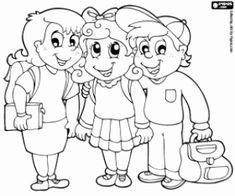 desenho de Grupo de crianças para colorir