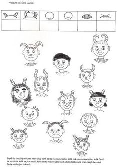 Čerti v pekle Preschool, Diagram, Comics, Drawings, Count, Christmas, Art, Xmas, Art Background