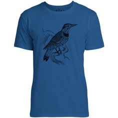 Mintage Lookout Bird Mens Fine Jersey T-Shirt (Royal)