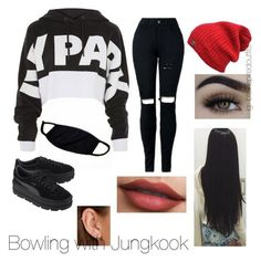 """Bts Inspired outfits"" by jungkookwifeuoml on Polyvore featuring Topshop, Puma and Maria Tash"