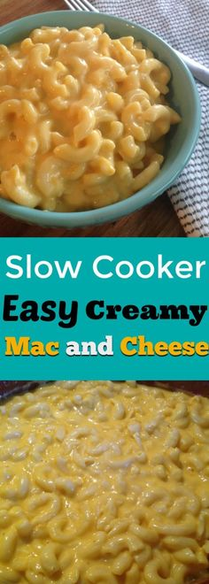 This Slow Cooker Easy Creamy Mac and Cheese recipe is a crowd pleaser for any potluck or weeknight dinner to feed your family! Only using a few ingredients you will have a meal that will quickly become a crockpot favorite.
