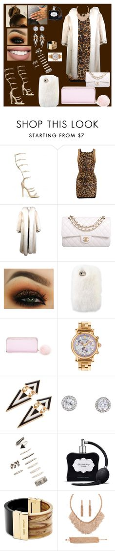 """""""Untitled #145"""" by ayannalovebug ❤ liked on Polyvore featuring Balmain, Oscar de la Renta, Chanel, Bow & Arrow, Forever 21, Versace, Victoria's Secret, Michael Kors and BERRICLE"""