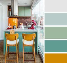 20 połączeń kolorów we wnętrzu kuchni 5