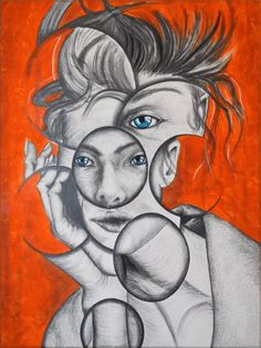 Girl with blue eyes drawing by andy butler Andy Butler, Disguise Art, Distortion Art, Contrast Art, Gcse Art Sketchbook, Realistic Eye Drawing, A Level Art, Identity Art, Ap Art