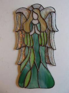 "Stained Glass ""Angel of Faith"" Suncatcher"