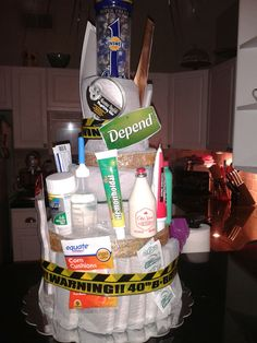 Depends Cake - Gag gift, 40th birthday.