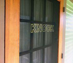 embroidered screen door