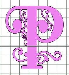 Creating a split letter monogram using cricut craft room for Cricut craft room fonts