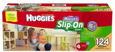 Huggies Little Movers Slip-On Diapers Mega Colossal Pack