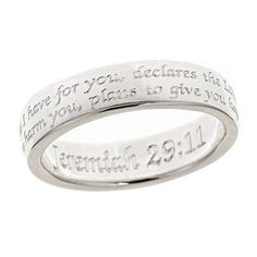 Scripture Ring-Jeremiah 29:11 - Purity Rings - Rings   Cornerstone Jewelry