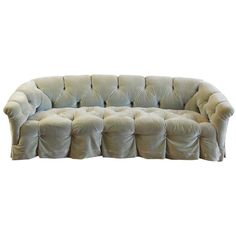 Preowned Rare Tufted Velvet Sofa By Anthony Hail (15 655 AUD) ❤ liked on Polyvore featuring multiple