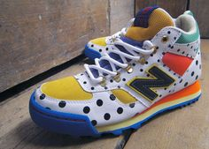 Frapbois x New Balance - If funky shoes make your heart sing, then the Frapbois x New Balance H710 sneakers are sure to make you giddy.  These kicks are crazy about polka d...