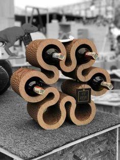 Подставка для вина из картона