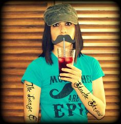 12 Mustaches on a Straw The Large & In Charge by ImSeriouslyJoking, $8.00