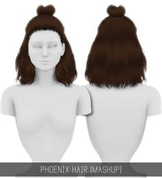 Sims 4 CC's - The Best: PHOENIX HAIR (MASHUP) - PATREON by simpliciaty-cc