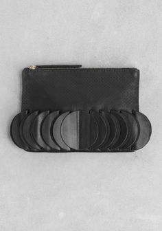clutch | & Other Stories (folded leather crescent moons)