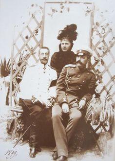 Grand Duke Konstantin Konstantinovich with his wife, Grand Duchess Elizaveta Mavrikievna  and his cousin Grand Duke George Mikhailovich   http://kantor.forum24.ru/