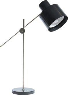 Vintage black industrial table lamp in bakelite by Elektrosvit - Design Market Desk Lamp, Table Lamp, Industrial Table, Vintage Black, Lightning, 1960s, Chrome, Bulb, Construction