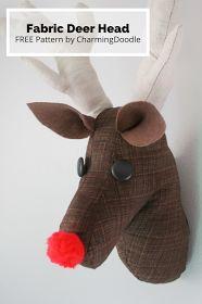 Rentier, Hirsch / Elch Kopf nähen I Tutorial: Make a Fabric Deer Head (or Rudolph)
