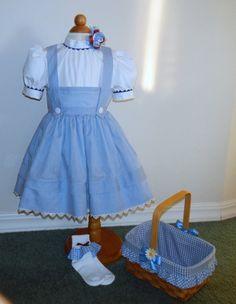 Dorothy Wizard of Oz Girl's Custom Made Costume by 2cutecostumes, $99.99