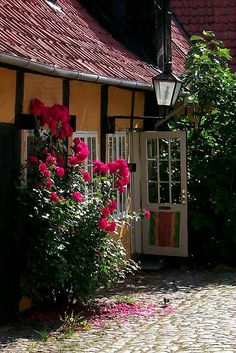 Pretty house in Svaneke, Bornholm: Roses in the Garden by kerry_bellerose, via Flickr