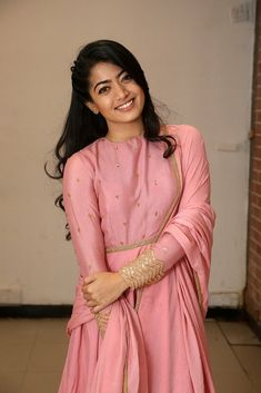 Rashmika Mandanna Challo Success Meet Photos - Get HD Gallery Info Indian Designer Outfits, Indian Outfits, Designer Dresses, Beautiful Girl Indian, Most Beautiful Indian Actress, Beautiful Actresses, My Princess, Dress Indian Style, Indian Wear