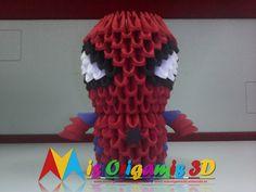 Mis Origamis 3D: NUEVO SPIDERMAN ORIGAMI 3D - JULIO 2016