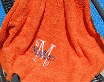 Monogram Towels, Monogram Bath Towels, Personalized Towels, Personalized Monogram Towels, Embroidered Towels, Bath Towels, Beach Towels