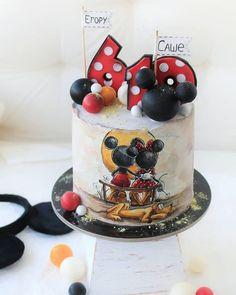 Pastel Mickey, Mickey And Minnie Cake, Bolo Mickey, Fiesta Mickey Mouse, Mickey Cakes, 3d Cakes, Fondant Cakes, Airbrush Cake, Valentine Cake