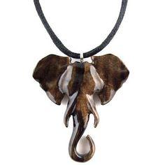 Elephant Necklace, Ganesha Hand Carved Pendant, Wood Elephant Pendant, Ganesha Pendant, Elephant Jewelry, Elephant Head Pendant Yoga Jewelry