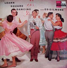 """Vintage square dance record featured on blog article """"My Not-So-Secret Love of Square Dancing"""" by Eartha Kitsch on her site Ranch Dressing."""
