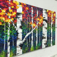Melissa McKinnon Painting Birches, Abstract Art, Paintings, Big, Canvas, Party, Crafts, Acrylic Art, Drawings