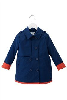 Coated Gabardine Peacoat sizes 2 - 6. little marc jacobs