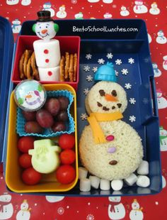 Fun Snowman Lunch - I would do this for Molly if I was a good mommy. Nothing like pinterest to make me feel inadequate!