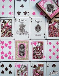 Pink Flirtatious - Bicycle playing cards