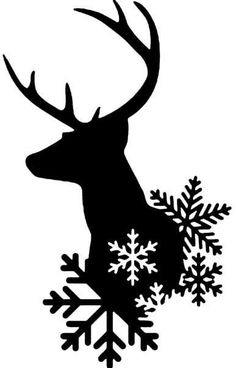Silhouette Design Store – See the drawing # Winter Deer Silhouette Design, Silhouette Cameo Projects, Silhouette Png, Silhouette Images, Noel Christmas, Christmas Projects, Holiday Crafts, Christmas Ornament, Ornaments