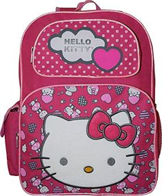 Hello Kitty Deluxe embroidered 16 School Bag Backpack *** You can get additional details at the image link.Note:It is affiliate link to Amazon. #HelloKitty