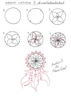 How to draw dream catcher. Tutorial. DIY.