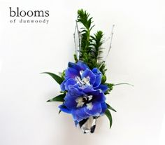 Blue Delphinium Boutonniere | Blooms of Dunwoody